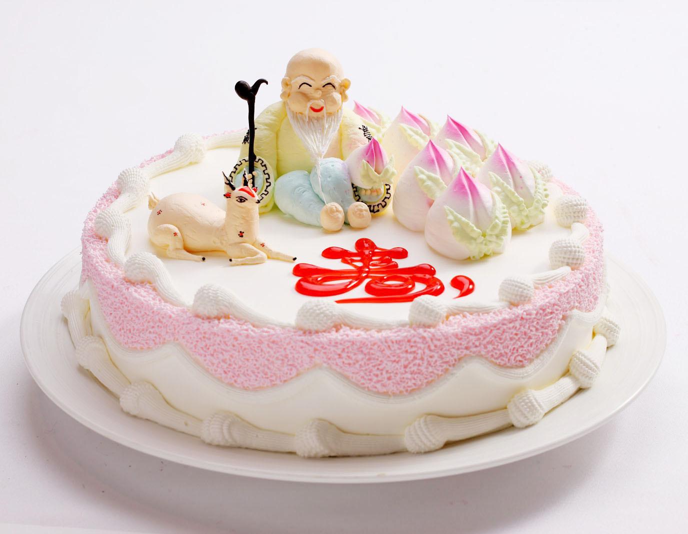 寿桃添福 贺寿蛋糕 天然奶油 味多美